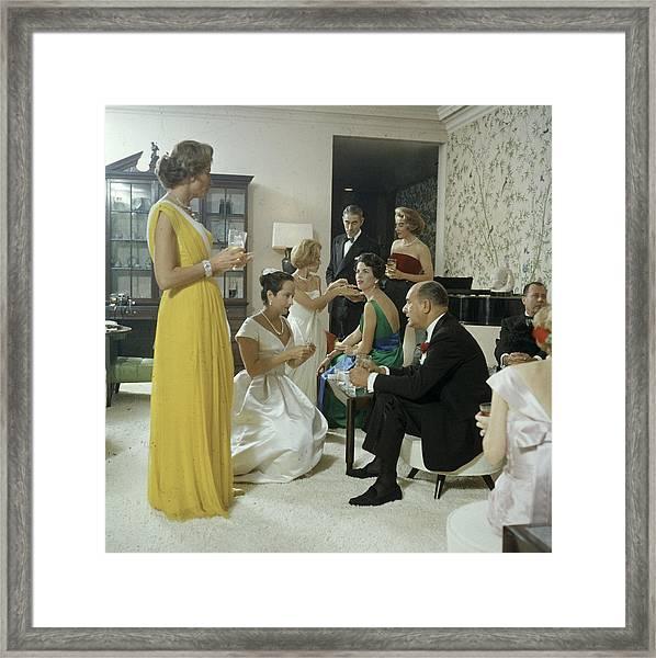 Bloomingdales Little Black Tie Dinner Framed Print