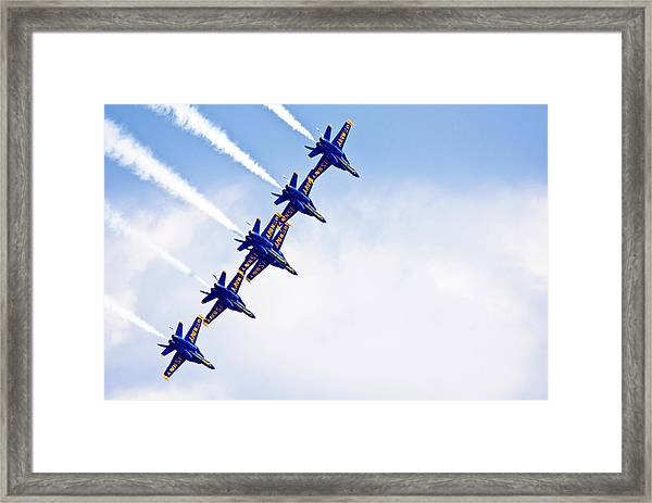 Blue Angels Framed Print by By Ken Ilio