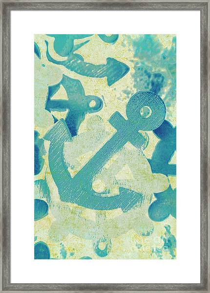 Blue Boating Button Framed Print