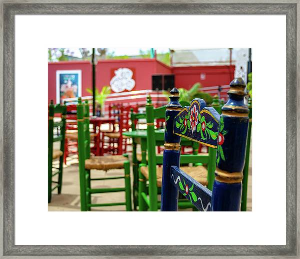 Blue Fair Chair Framed Print