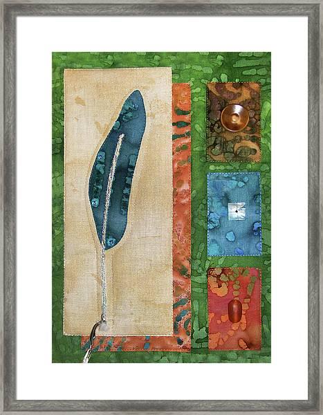 Blue Feather Framed Print