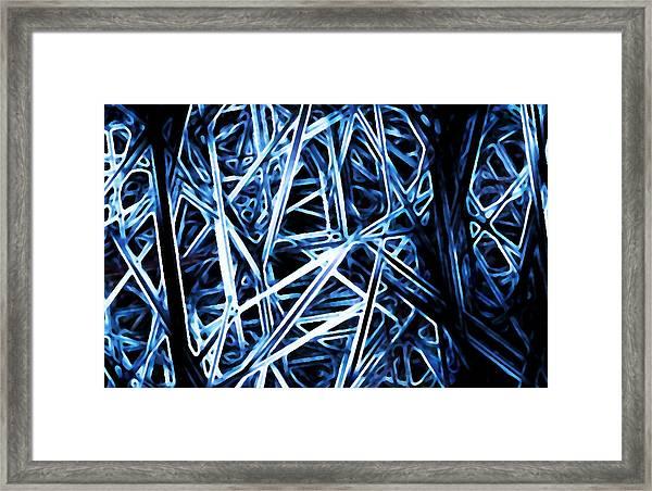 Blue Fibers Framed Print