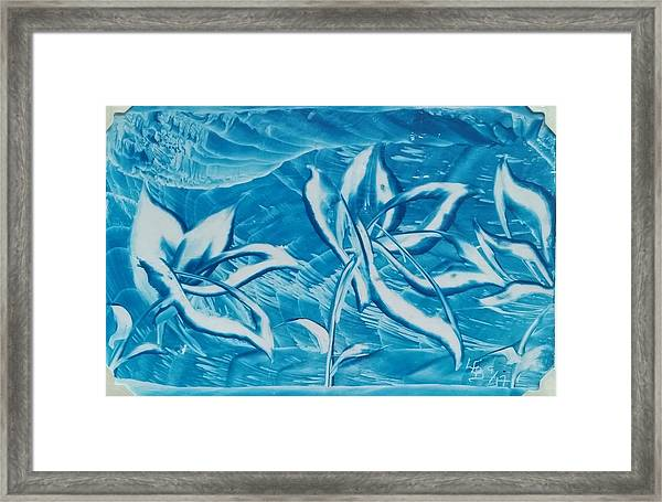 Blue Floral Framed Print
