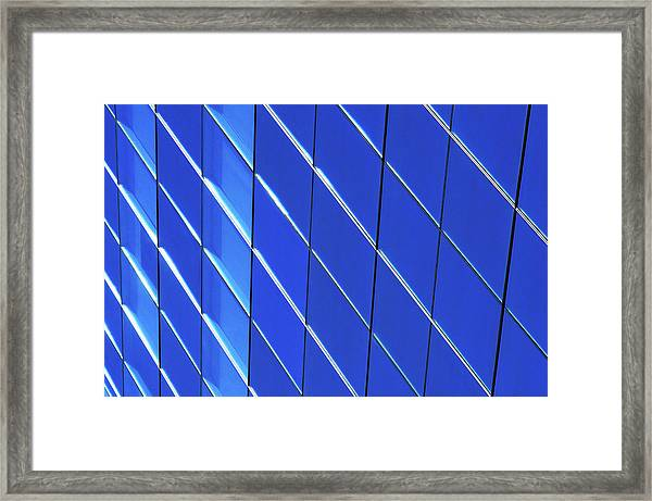 Blue Glass Modern Building Framed Print