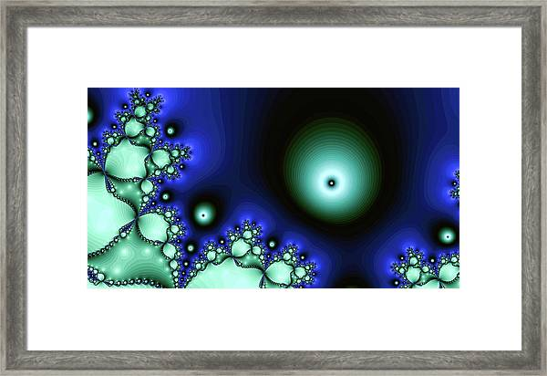 Blue Glowing Bliss Abstract Framed Print