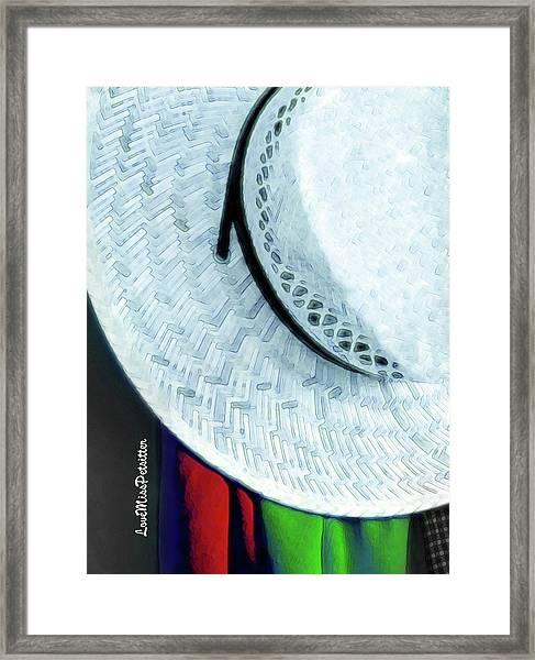 Blue Hat Painting 2 Framed Print