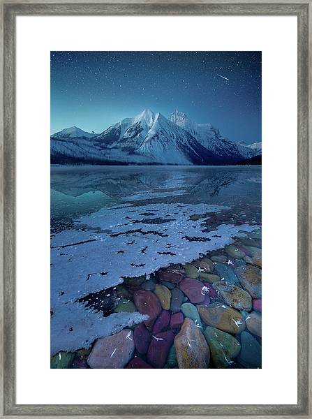 Blue Hour / Lake Mcdonald, Glacier National Park  Framed Print
