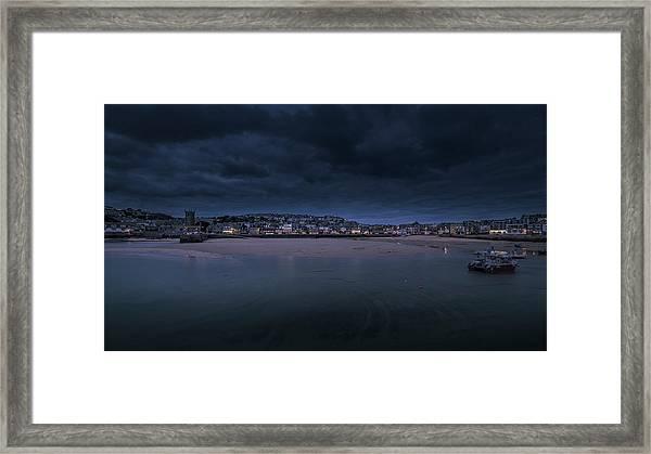 Blue Hour - St Ives Cornwall Framed Print