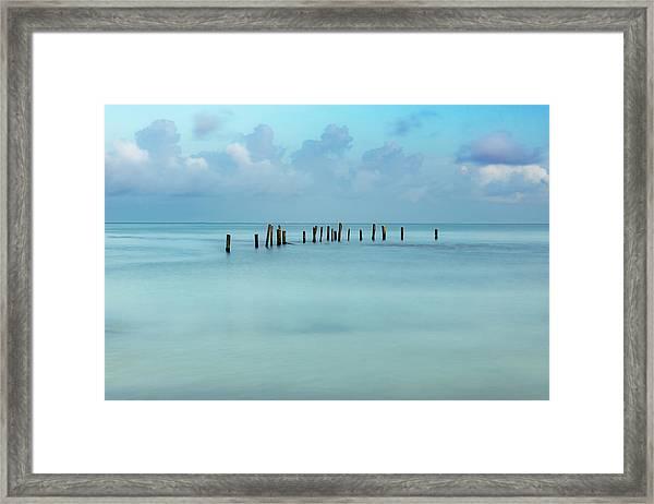 Blue Mayan Sea Framed Print