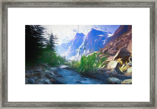 Blue Montains Framed Print