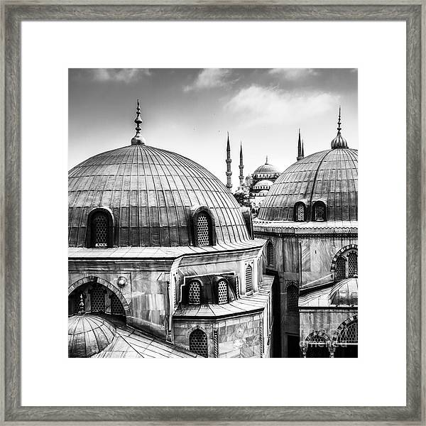 Blue Mosque Or Sultan Ahmed Mosque Framed Print
