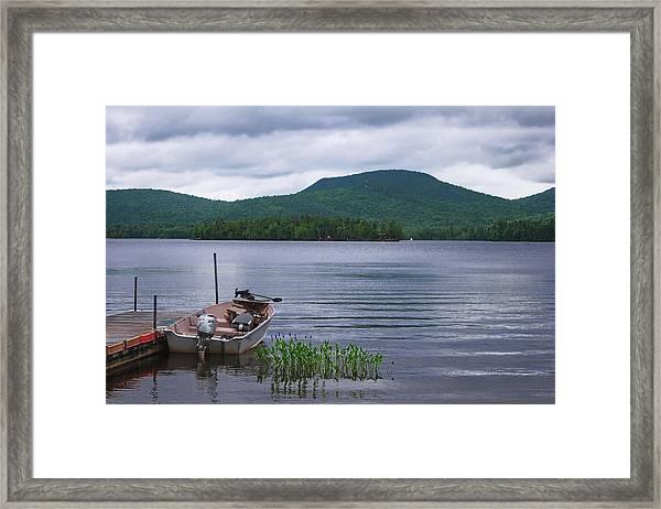 Blue Mountain Lake Framed Print