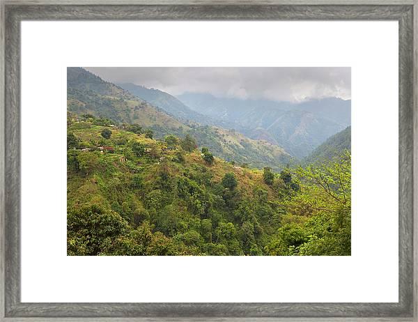 Blue Mountain Landscape, Jamaica Framed Print