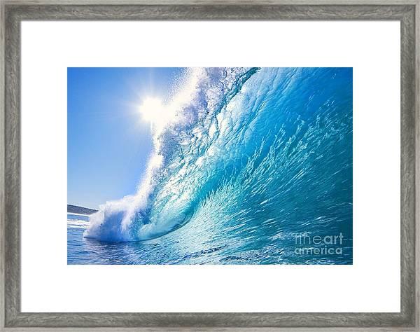 Blue Ocean Wave Framed Print
