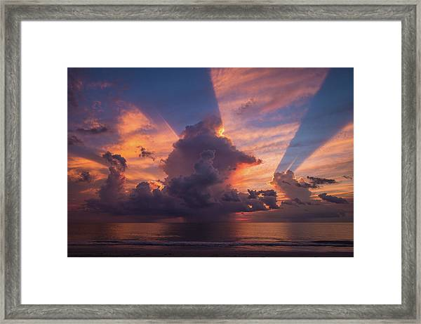 Blue Orange Sunset Framed Print