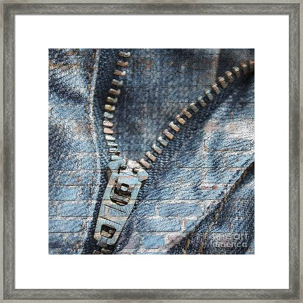 Sexy Blue Jeans Framed Print