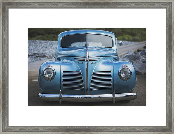 Framed Print featuring the photograph Blue Plymouth by Elliott Coleman