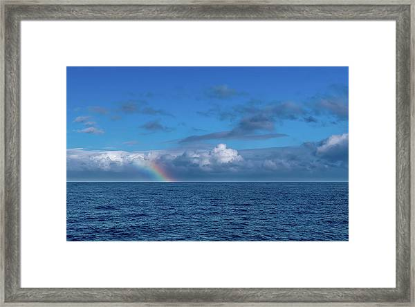 Blue Rainbow Horizon Framed Print
