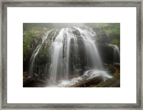 Blue Ridge Mountain Falls Framed Print