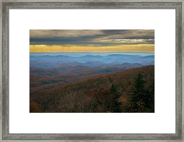 Blue Ridge Parkway - Blue Ridge Mountains - Autumn Framed Print