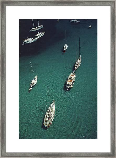Blue Seas Framed Print by Slim Aarons