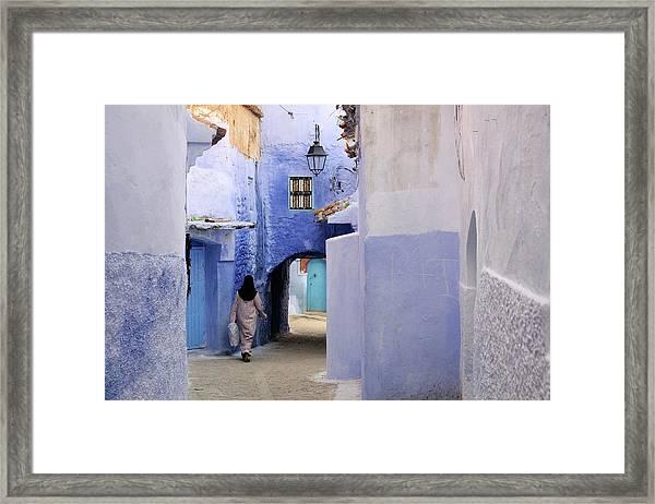 Blue Street Framed Print