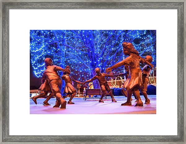 Blue Tree Play Framed Print