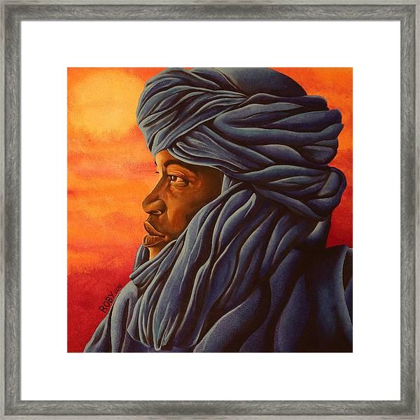 Blue Tuareg Framed Print