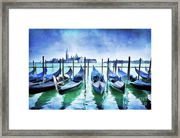 Blue Venice Framed Print