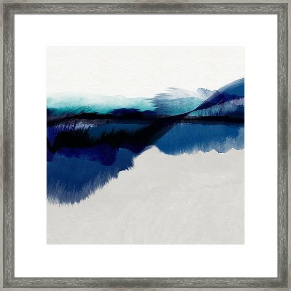 Blue Vista- Art By Linda Woods Framed Print