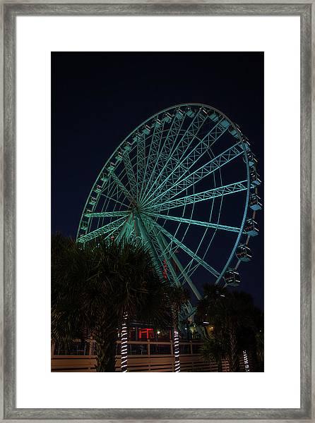 Blue Wheel Framed Print