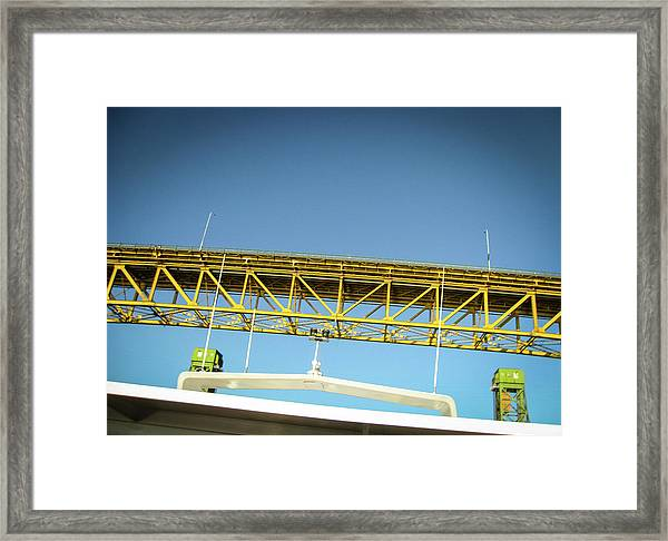 Framed Print featuring the photograph Blue, Yellow And Green by Juan Contreras