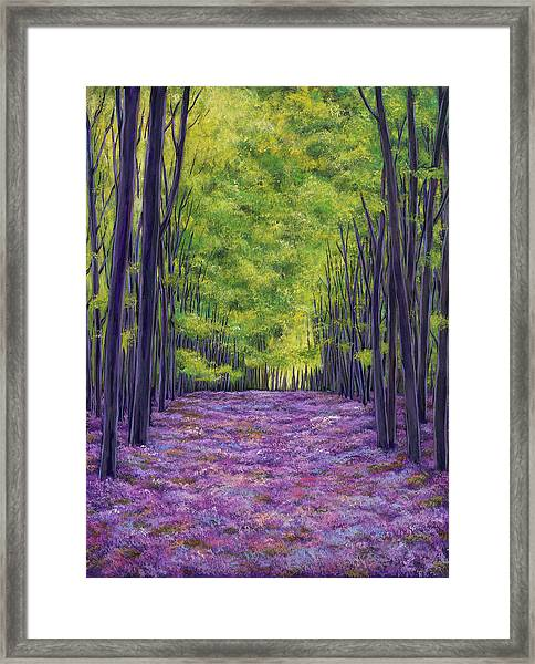 Bluebells And Daydreams Framed Print