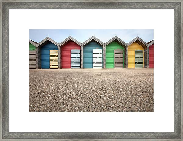 Blyth Beach Huts Framed Print by Billy Currie Photography