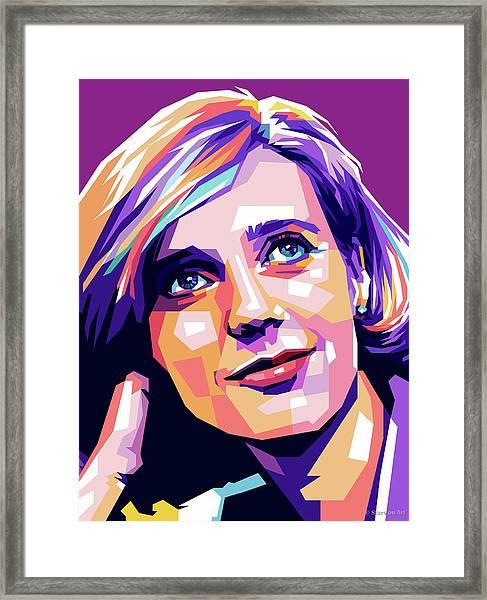 Blythe Danner Pop Art Framed Print