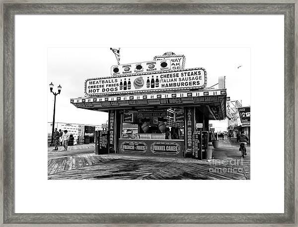 Boardwalk Comfort Food Seaside Heights Framed Print