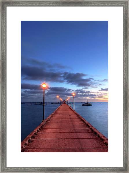 Boat Jetty, Oistins, Barbados Framed Print
