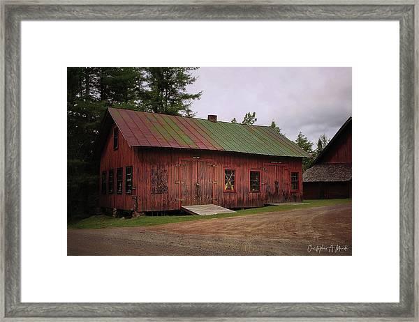 Boat Shop Framed Print