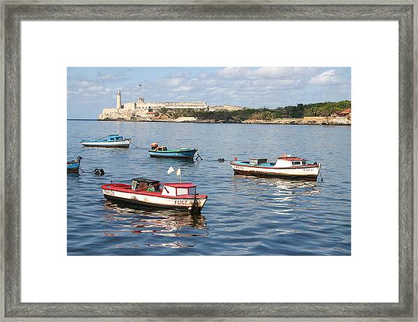 Boats In The Harbor Havana Cuba 112605 Framed Print