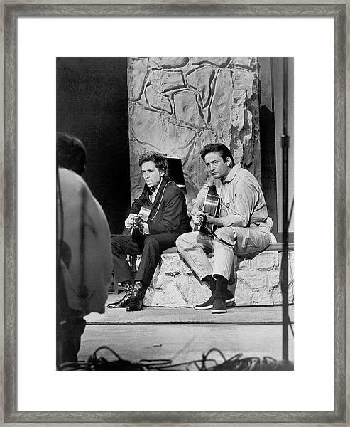 Bob Dylan & Johnny Cash Framed Print
