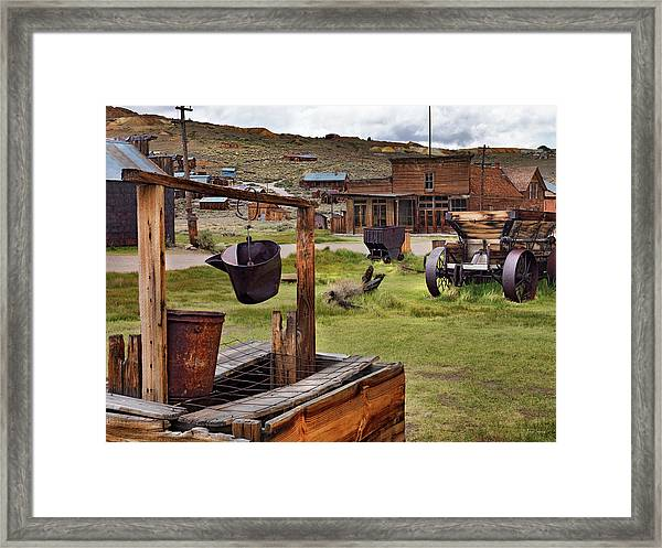 Bodie Ghost Town Framed Print by Leland D Howard