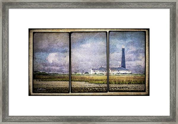 Bolivar Lighthouse Triptych 1 Framed Print