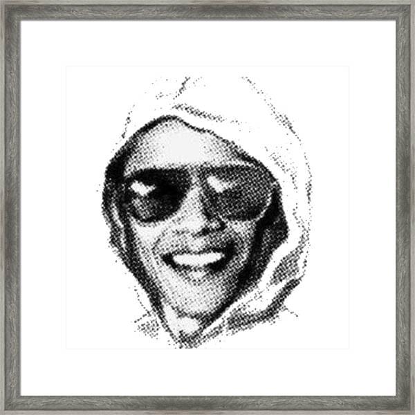Bomber Suspect Framed Print