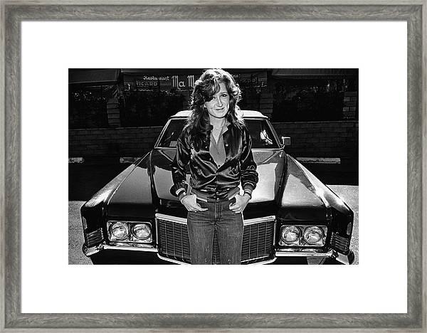Bonnie Raitt Portrait Session Framed Print by George Rose