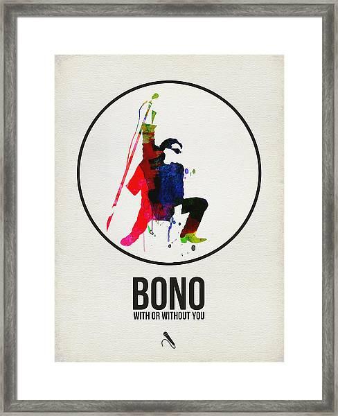 Bono II Framed Print