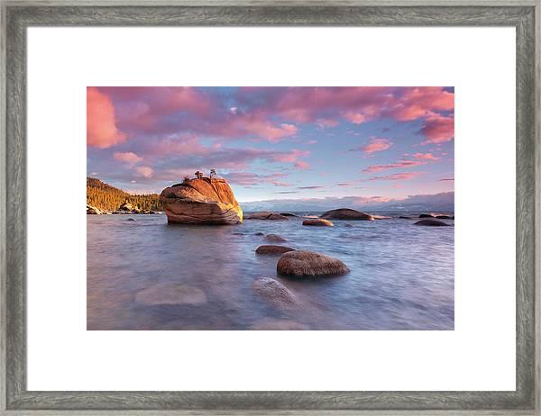 Bonsai Rock, Lake Tahoe Framed Print