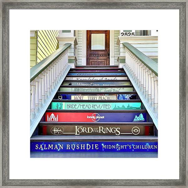 Book Stairs Framed Print