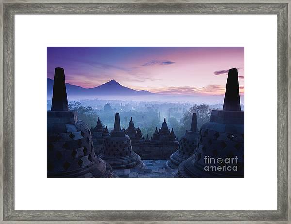 Borobudur Temple, Yogyakarta, Java Framed Print