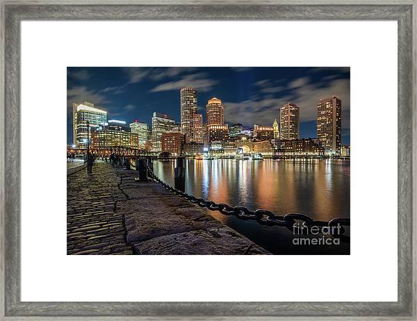 Boston At Blue Hour Framed Print