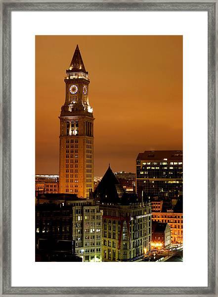 Boston Clock Tower - Custom House Framed Print by Jsmith